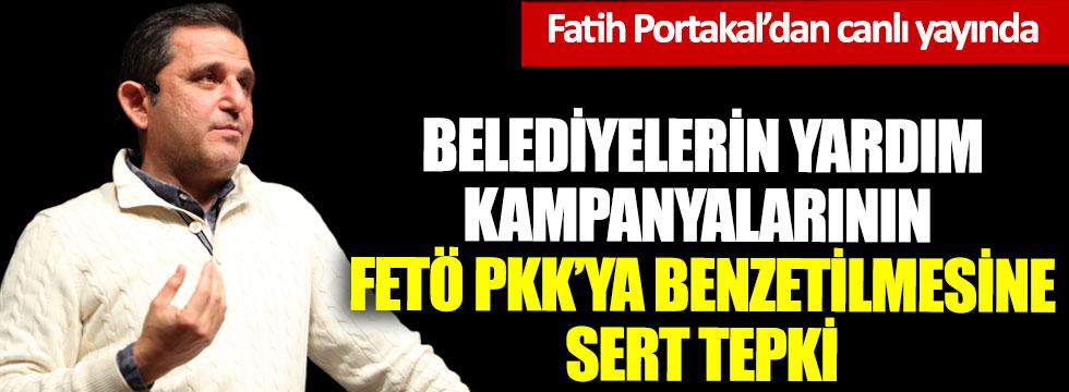 Fatih Portakal'dan belediyelerin yardım kampanyalarının FETÖ PKK'ya benzetilmesine sert tepki