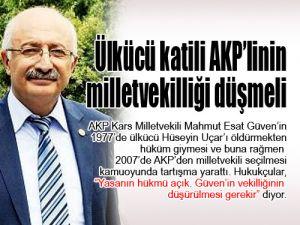 Ülkücü katili AKP'linin milletvekilliği düşmeli