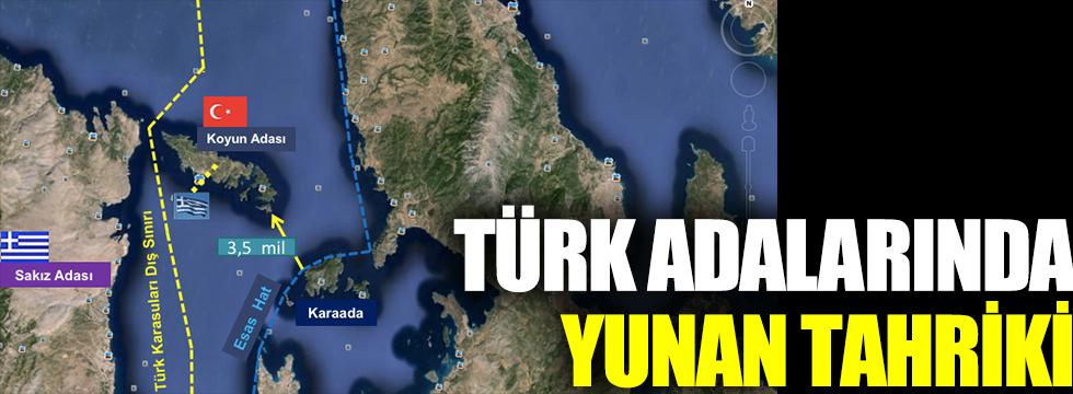 Türk adalarında Yunan tahriki
