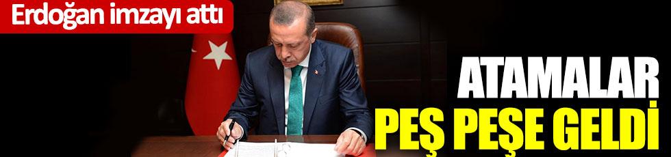 Erdoğan imzayı attı atamalar peş peşe geldi