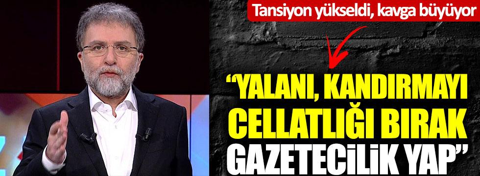 """Ahmet Hakan - CHP kavgası büyüyor: """"Cellatlığı bırak, gazetecilik yap"""""""