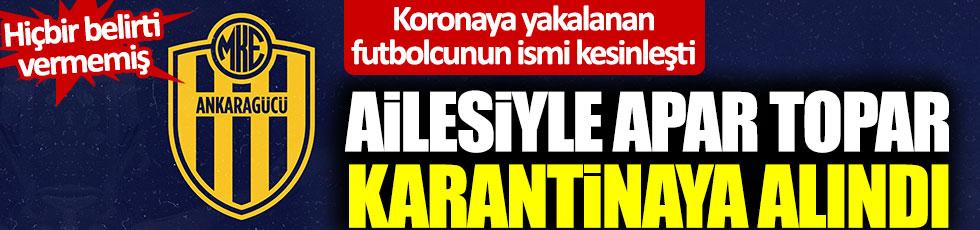 Resmi açıklama geldi! Ankaragücü'nde hangi oyuncuda korona çıktı?