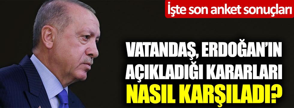 İşte son anket sonuçları: Tayyip Erdoğan'ın açıkladı korona virüs kararları nasıl karşılandı?