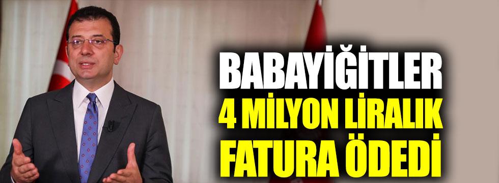 Babayiğitler 4 milyon liralık fatura ödedi