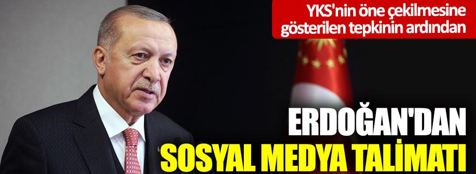 YKS'nin öne çekilmesine gösterilen tepkinin ardından: Erdoğan'dan sosyal medya talimatı
