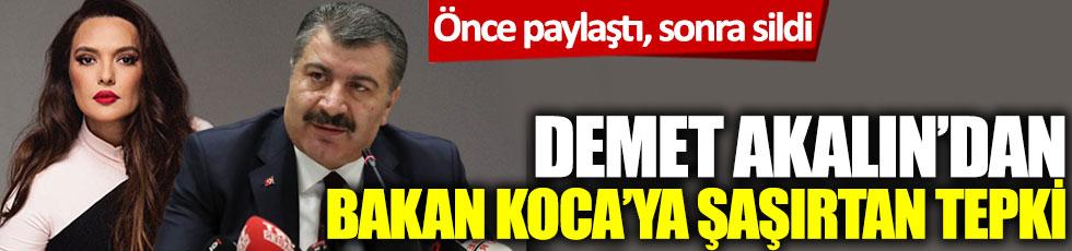 Demet Akalın önce paylaştı, sonra sildi: Sağlık Bakanı Fahrettin Koca'ya şaşırtan tepki