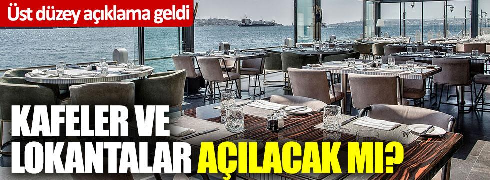Sağlık Bakanı Fahrettin Koca konuştu: Kafeler ve lokantalar açılacak mı?