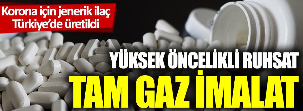 Korona için jenerik ilaç Türkiye'de üretildi! Yüksek öncelikli ruhsat, tam gaz imalat