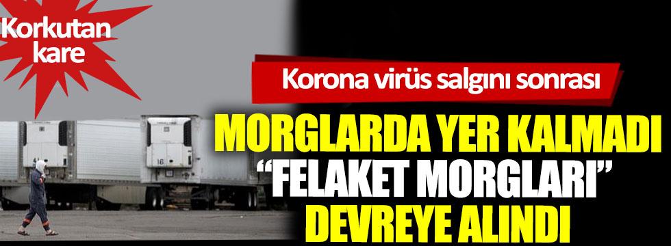 """Korona virüs salgını sonrası morglarda yer kalmadı, """"felaket morgları"""" devreye alındı"""