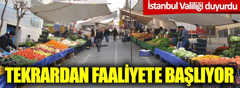 İstanbul Valiliği duyurdu: Tekrardan faaliyete başlıyor