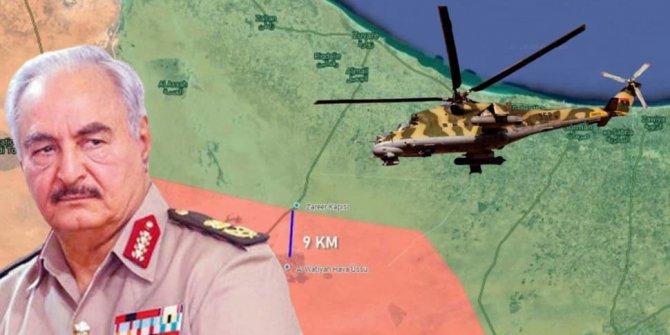 Libya ordusundan Hafter'e 5 farklı noktada operasyon