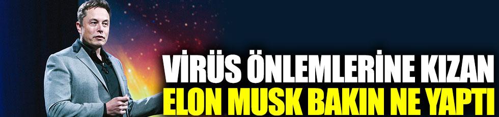 Virüs önlemlerine kızan Elon Musk bakın ne yaptı