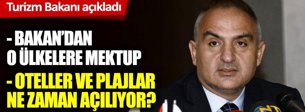 Turizm Bakanı Mehmet Nuri Ersoy açıkladı oteller ne zaman açılıyor? Otellerde hangi kurallara uyulacak?