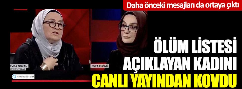 Canlı yayında ölüm listesi açıklayan Sevda Noyan'dan 'çevir kazı yanmasın'