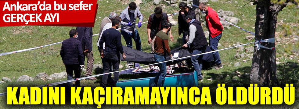 Ankara'da ayının saldırısına uğrayan kadın öldü