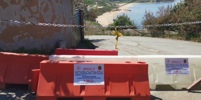 Kilyos sahilleri zincirlendi