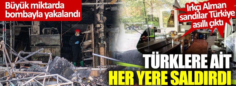 Türklere ait her yere saldırdı: Büyük miktarda bombayla yakalandı