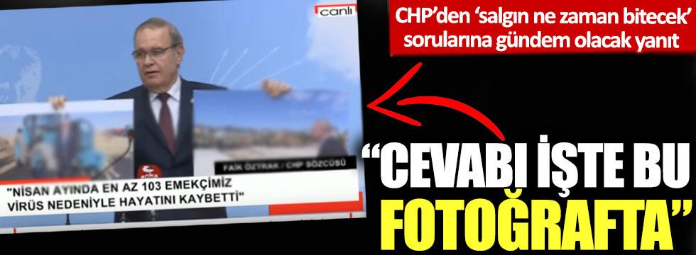 CHP'den 'salgın ne zaman bitecek' sorularına gündem olacak yanıt: 'Cevabı işte bu fotoğrafta'