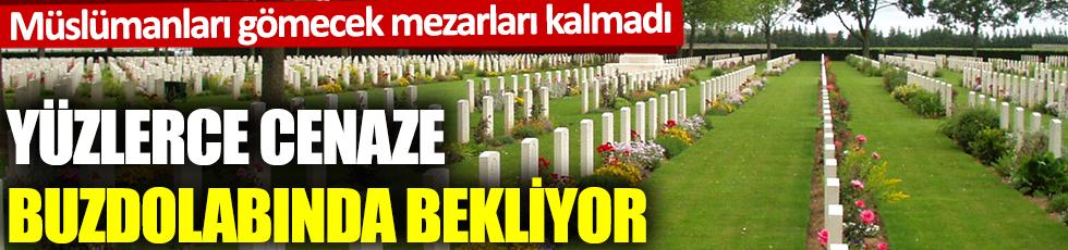 Müslümanları gömecek mezarları kalmadı: Yüzlerce cenaze buzdolabında bekliyor