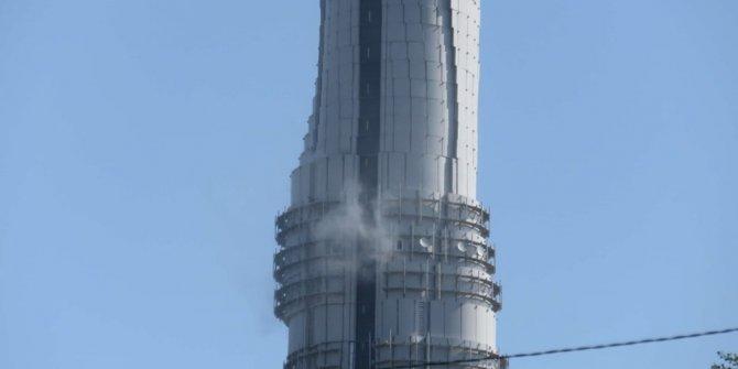 Çamlıca Kulesi'nde yangın!