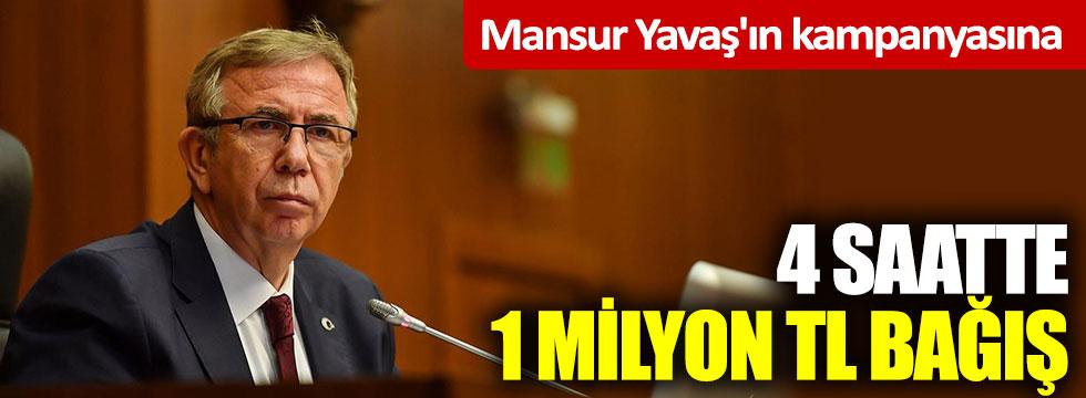 Mansur Yavaş'ın kampanyasına 4 saatte 1 milyon TL bağış