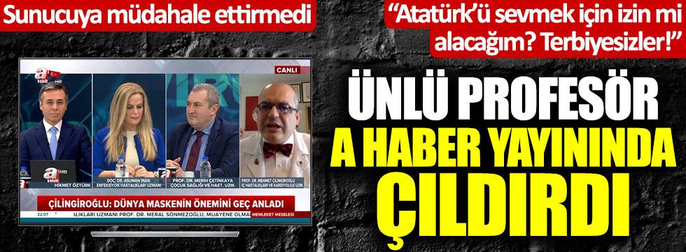 Prof. Mehmet Çilingiroğlu'nun A Haber'de Atatürk isyanı! Sunucuya müdahale ettirmedi