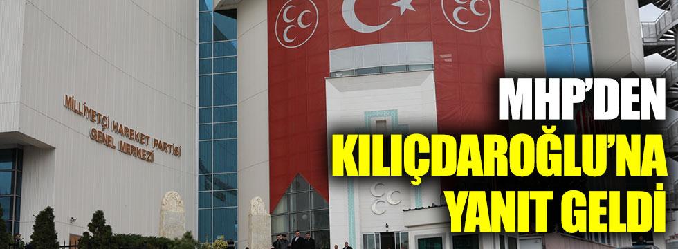 MHP'den Kılıçdaroğlu'na yanıt geldi