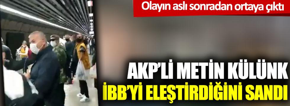 AKP'li Metin Külünk İBB'yi eleştirdiğini sandı: Gerçekler sonradan ortaya çıktı