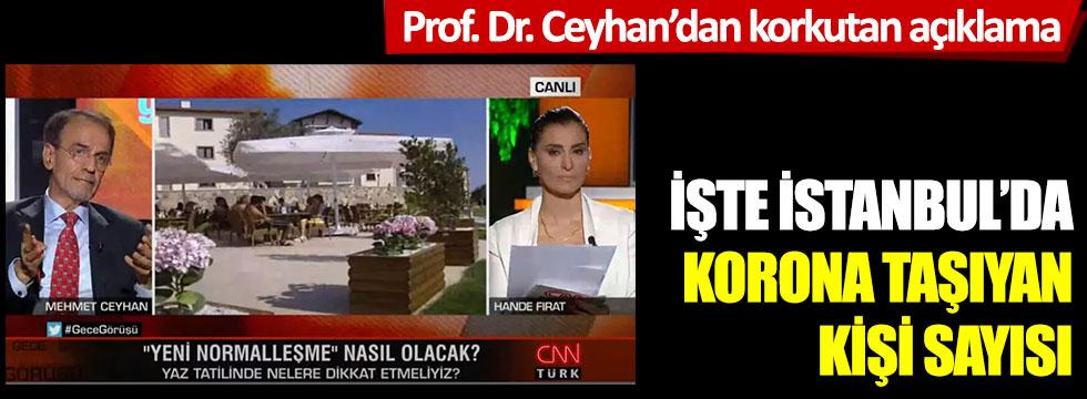 Prof. Dr. Mehmet Ceyhan'dan korkutan açıklama; İşte İstanbul'da korona taşıyan kişi sayısı