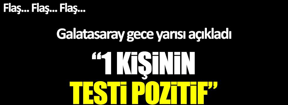 """Galatasaray'dan son dakika açıklaması: """"1 kişinin korona virüs testi pozitif"""""""