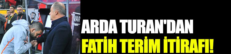 Arda Turan'dan Fatih Terim itirafı! 'En iyisi'