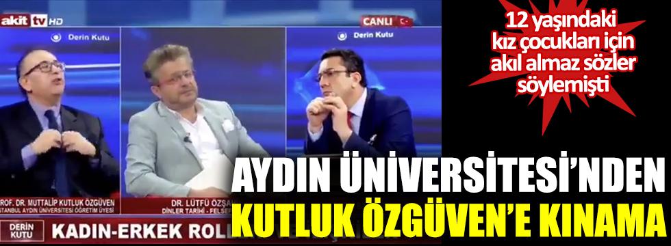 İstanbul Aydın Üniversitesi'nden Kutluk Özgüven'e kınama