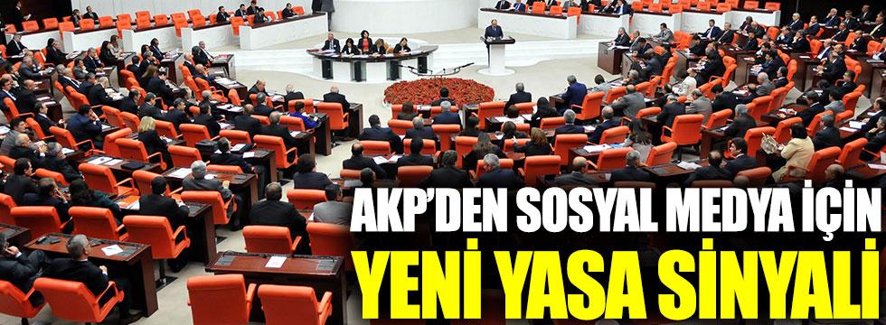 AKP'den sosyal medya için yeni yasa sinyali