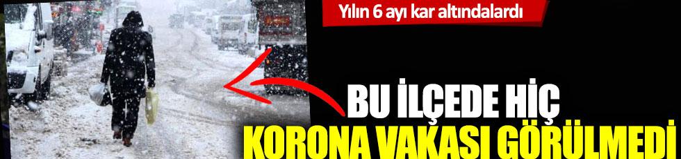 Yılın 6 ayı kar altındalardı: Bu ilçede hiç korona virüs vakası görülmedi!