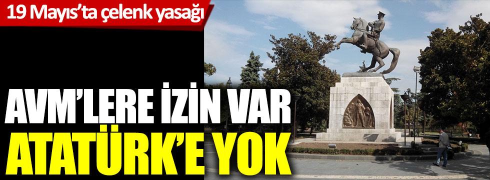 AVM'lere izin var, Atatürk'e yok: 19 Mayıs'ta çelenk yasağı
