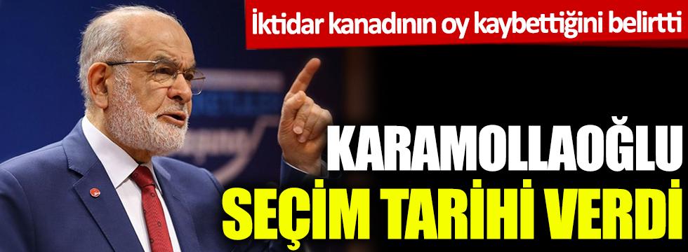 Karamollaoğlu seçim tarihi verdi