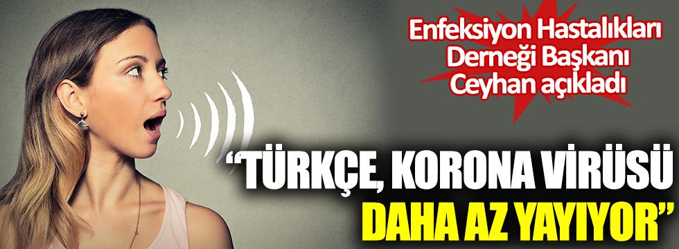 Prof. Dr. Mehmet Ceyhan açıkladı: Türkçe virüsü daha az yayıyor
