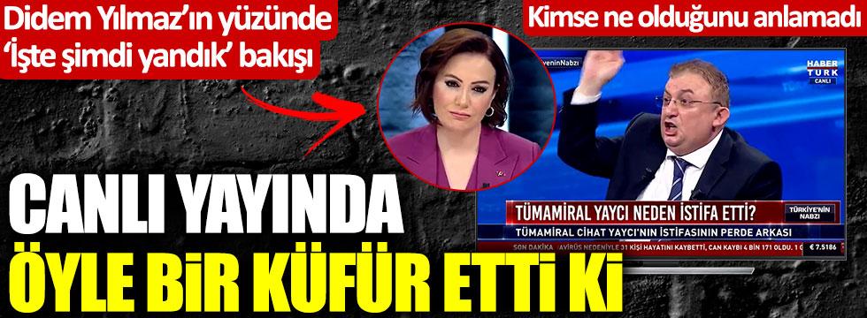 Faik Işık'tan HaberTürk canlı yayınında akılalmaz küfür! Didem Arslan Yılmaz dondu kaldı