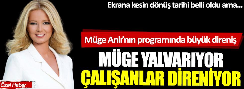 Ekrana dönmeye hazırlanan Müge Anlı'nın programında büyük direniş: Müge yalvarıyor, çalışanlar direniyor