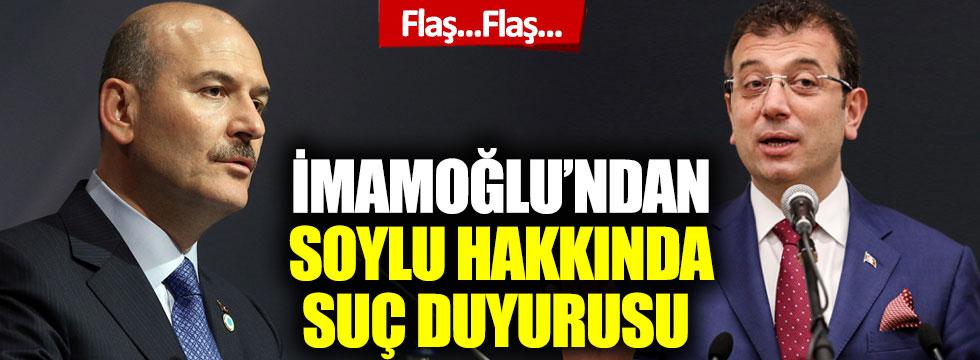 Ekrem İmamoğlu'ndan, İçişleri Bakanı Süleyman Soylu hakkında suç duyurusu