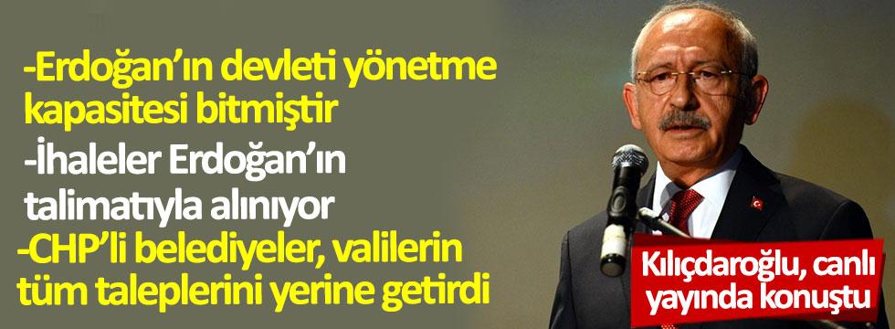 Kılıçdaroğlu, canlı yayında konuştu