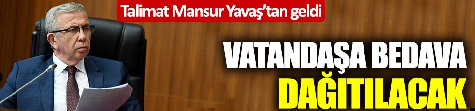 Mansur Yavaş'ın talimatıyla üretildi: Ankaralılara bedava dağıtılacak