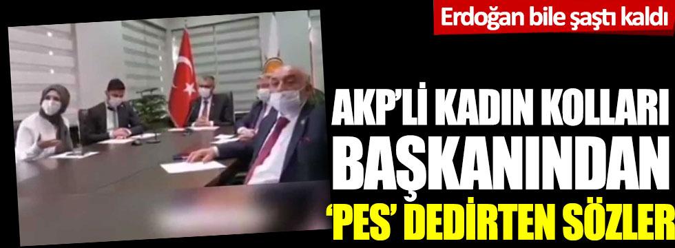 AKP'li kadın kolları başkanından 'pes' dedirten sözler: Erdoğan bile şaştı kaldı