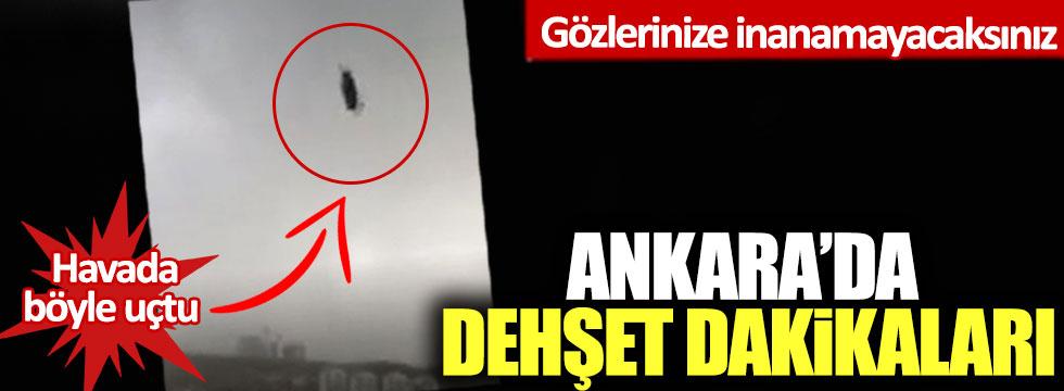 Ankara'da dehşet dakikaları: Gözlerinize inanamayacaksınız!