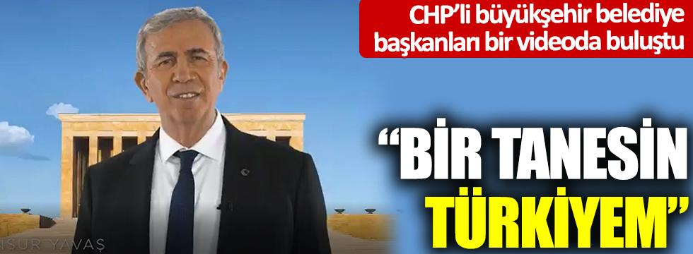 CHP'li büyükşehir belediye başkanları bir videoda buluştu: Bir tanesin Türkiyem