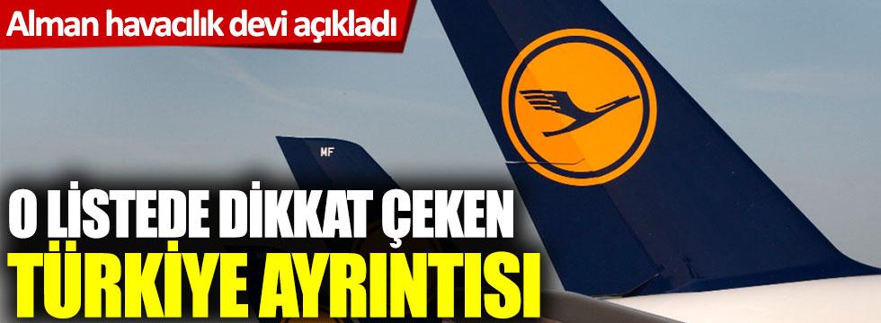 Alman havacılık devi açıkladı! O listede dikkat çeken Türkiye ayrıntısı