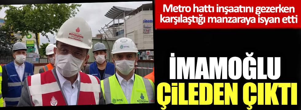 Metro inşaatını gezen Ekrem İmamoğlu gördüğü manzara karşısında çileden çıktı!