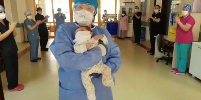 45 günlük bebek, korona virüsü yendi