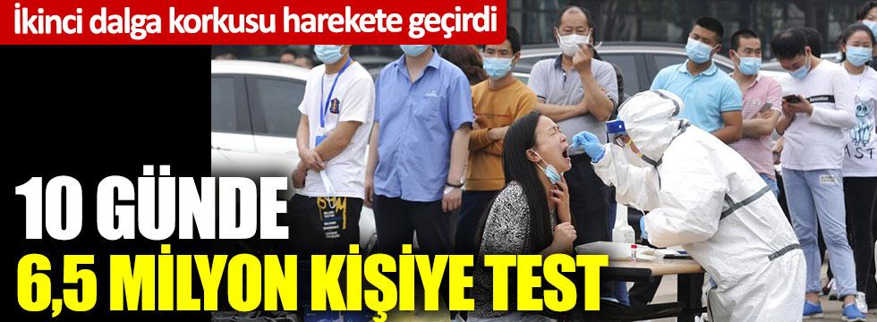 İkinci dalga korkusu: 10 günde 6,5 milyon kişiye test