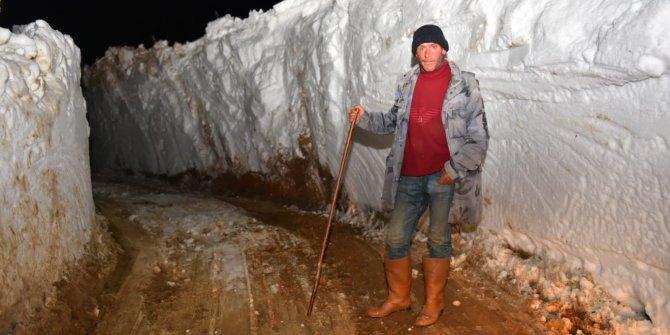 2 metrelik karı açıp çobanı kurtardılar